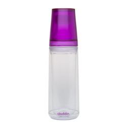 Aladdin Waterfles 0,75L (paars) incl. twee bekers