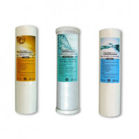 PurePro AquaRosa Essential Vervangingsfilter Pakket - 1 Micron Sedimentfilter - 5 Micron Sedimentfilter - Carbon Block Filter (enkel doos beschadigd