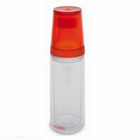 Waterfles Aladdin 0,75L (rood) incl. twee bekers